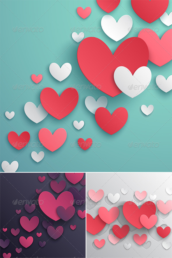 GraphicRiver Valentines Day Abstract Backgrounds 6711696