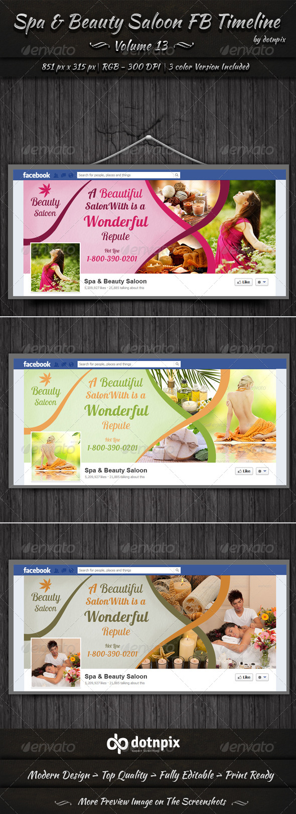 GraphicRiver Spa & Beauty Saloon FB Timeline Cover Volume 13 6711840