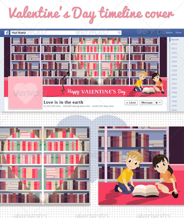 GraphicRiver Valentine s Day Facebook Timeline Cover 6705633