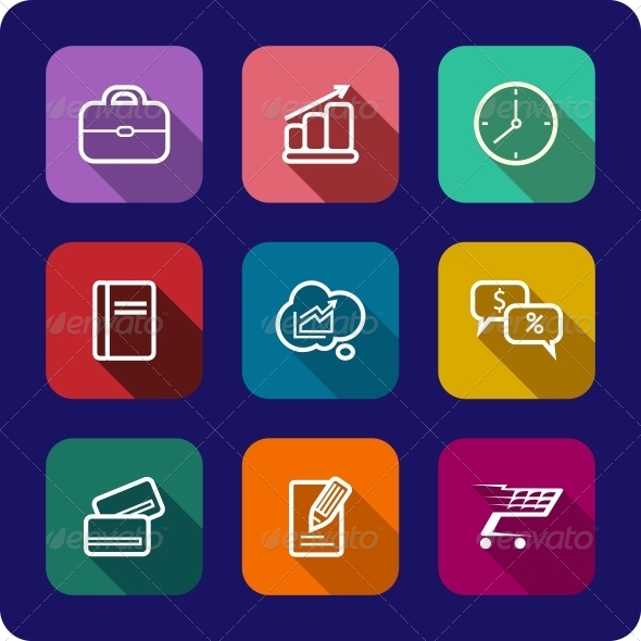 GraphicRiver Flat Icons Set for Web and Interface Design 6711993