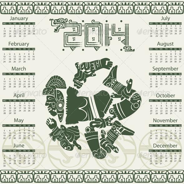 GraphicRiver Mayan Calendar 2014 6712051