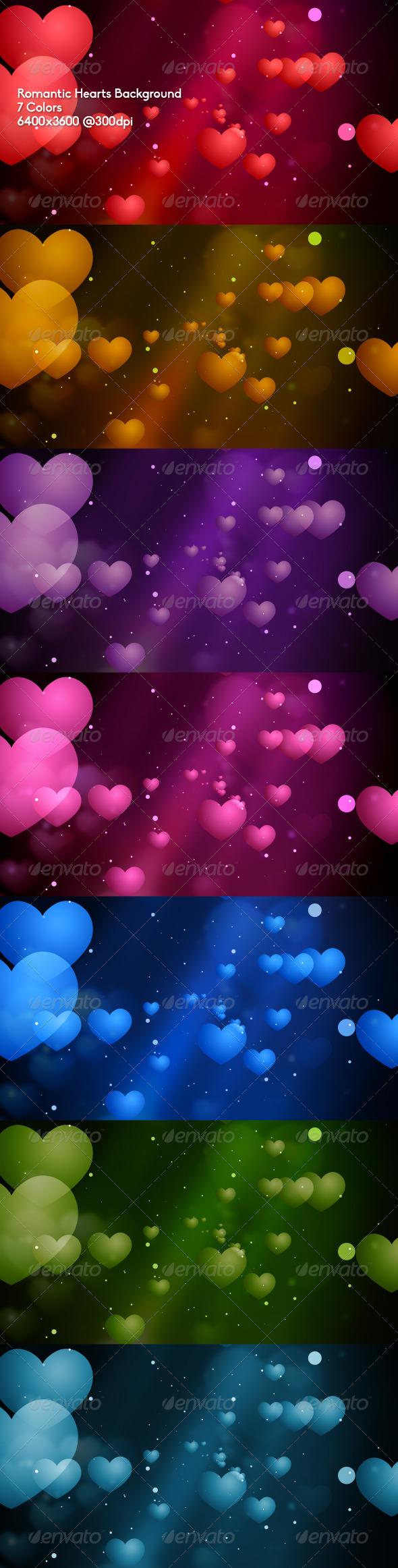 GraphicRiver Romantic Hearts Background 6712095
