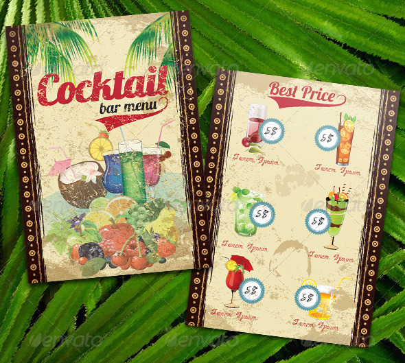 GraphicRiver Cocktail Bar Menu 6712364