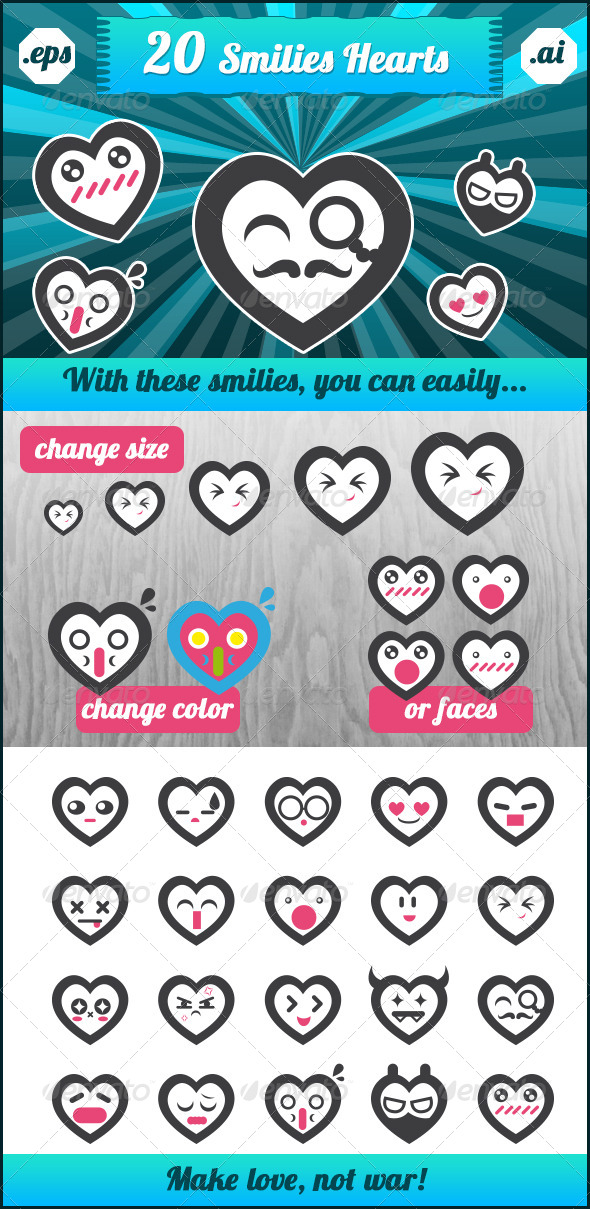 GraphicRiver Smilies Hearts 6712407