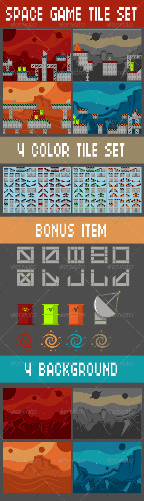GraphicRiver Space Game Tile Set 6712449
