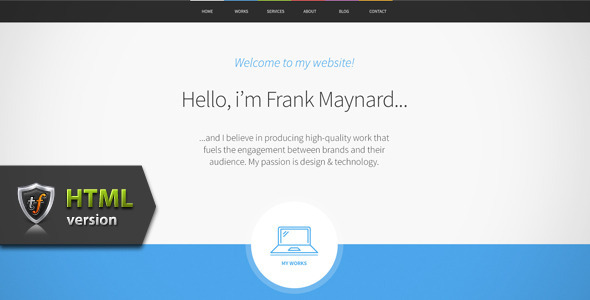 ThemeForest Freelancer One Page HTML Template 6712483