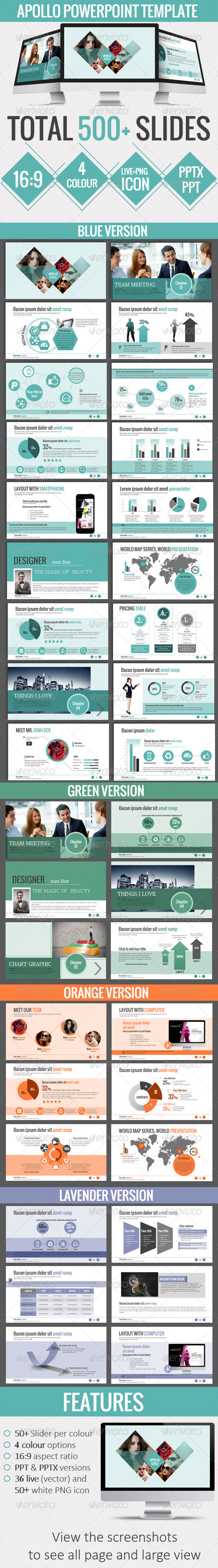 GraphicRiver APOLLO Powerpoint Template 6703834