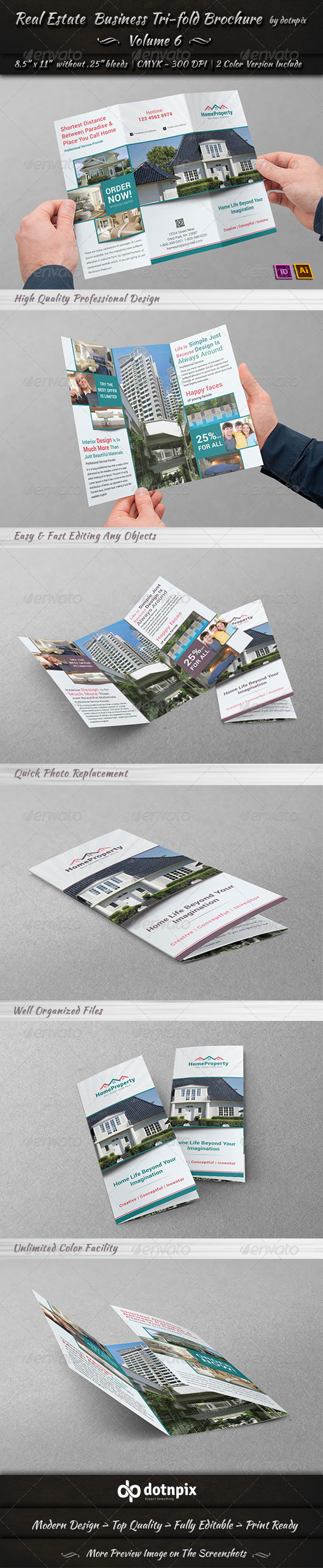 GraphicRiver Real Estate Business TriFold Brochure Volume 6 6712579