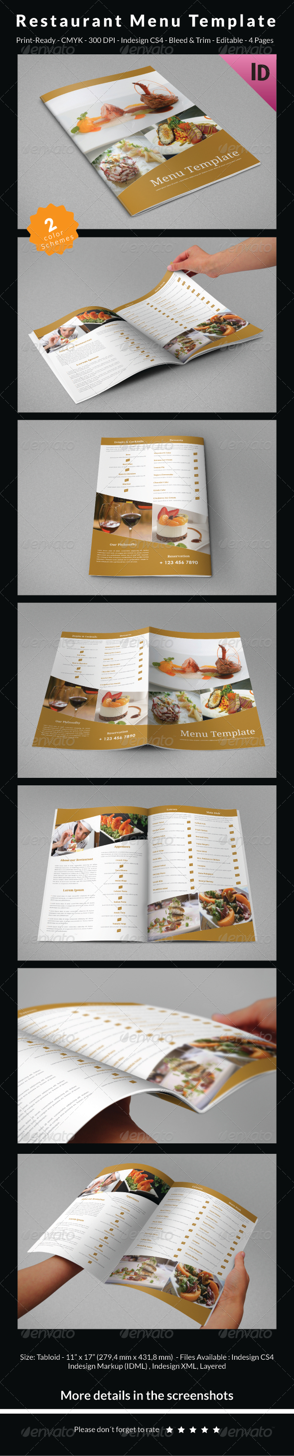 GraphicRiver Restaurant Menu Template 6705957