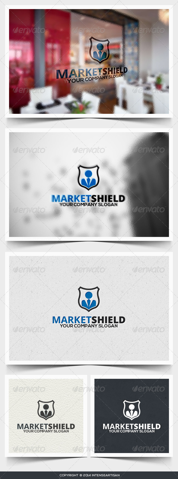 GraphicRiver Market Shield Logo Template 6712768
