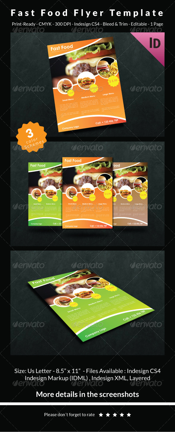 GraphicRiver Fast Food Flyer Template 6713000