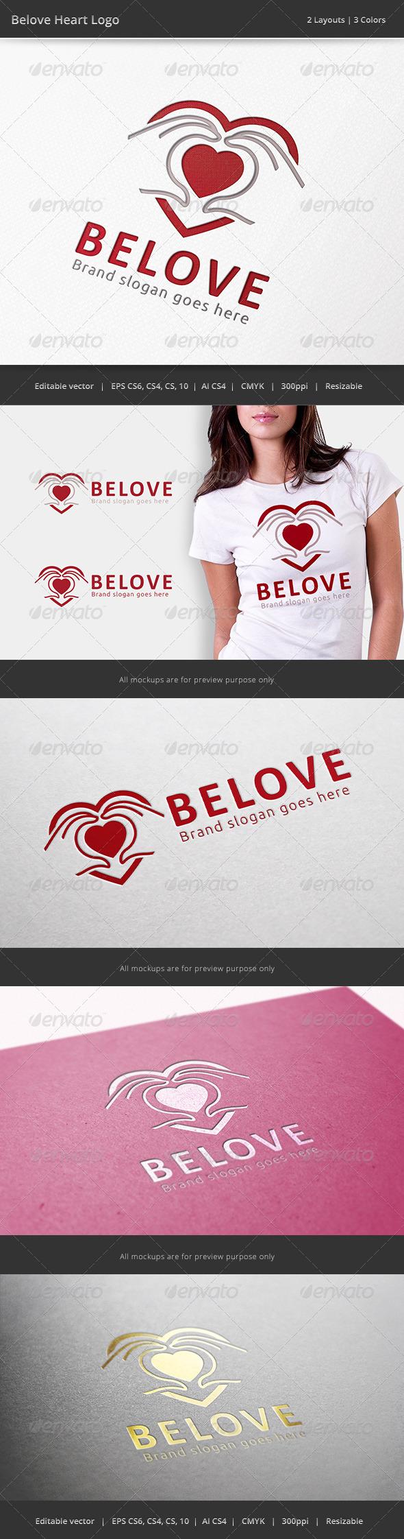 GraphicRiver Beloved Heart Hand Logo 6713011