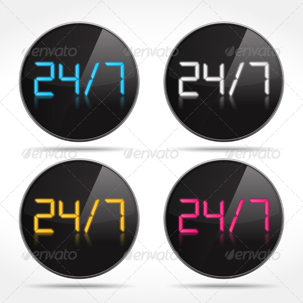 GraphicRiver 24 7 Icons 6713204