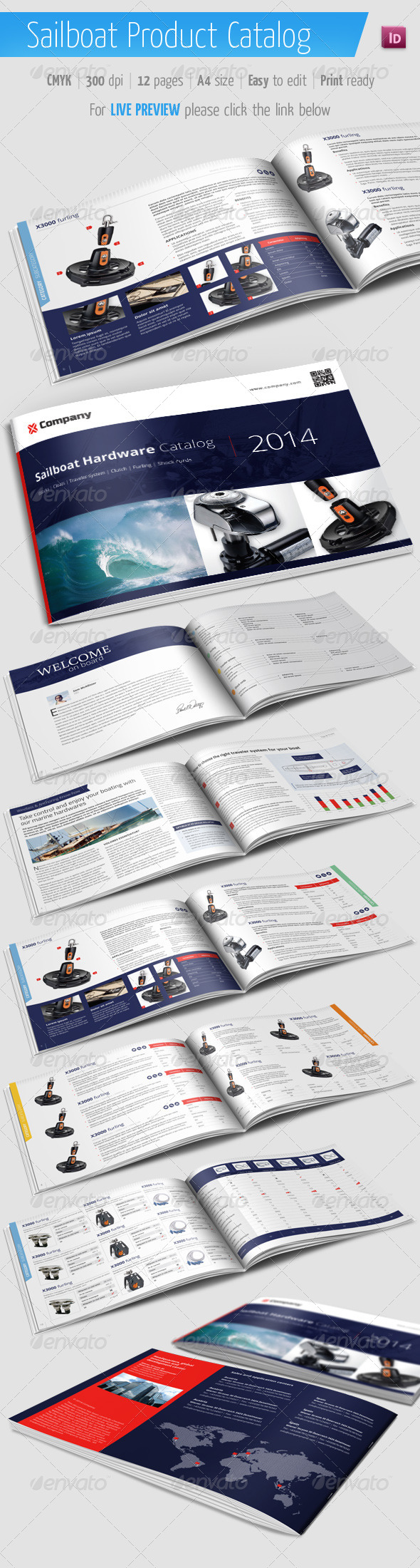 GraphicRiver Sailboat Product Catalog Marine Brochure 6713244