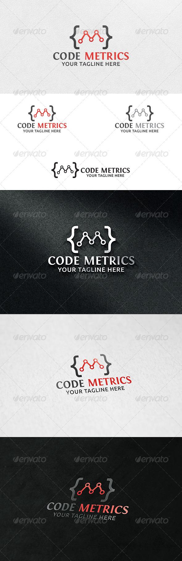GraphicRiver Code Metrics Logo Template 6713381