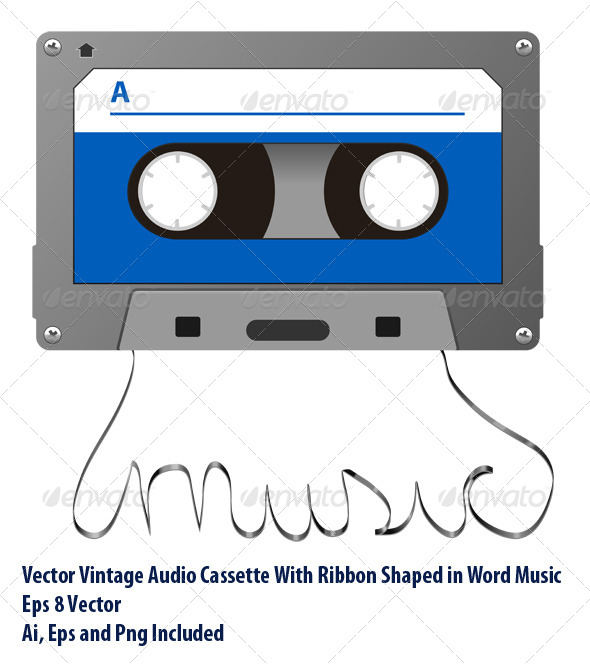 GraphicRiver Audio Tape 6713447