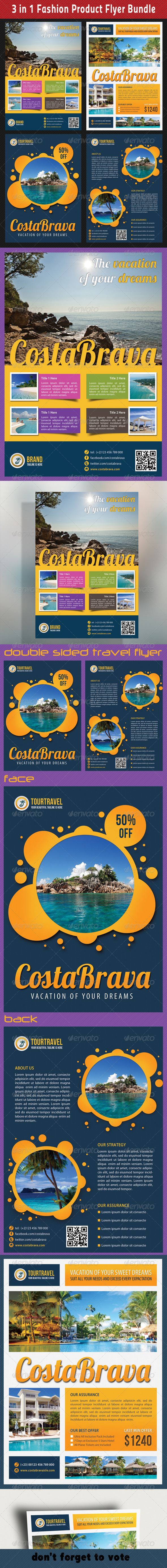 GraphicRiver 3 in 1 Tour Travel Flyer Bundle 01 6713838