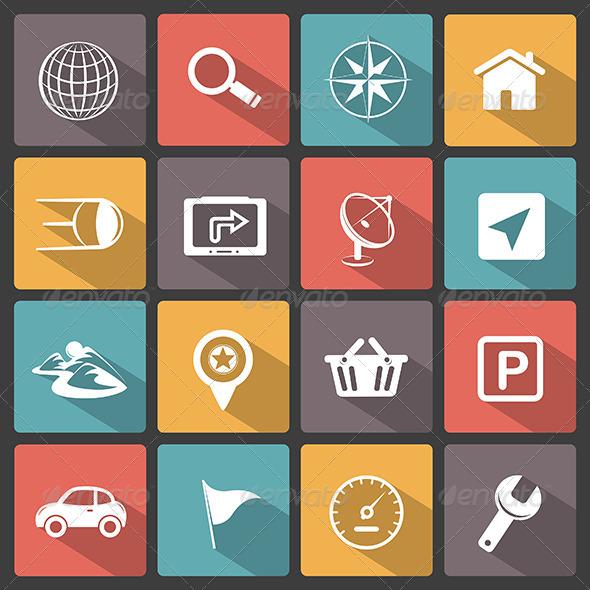 GraphicRiver GPS Navigation Icons 6713864