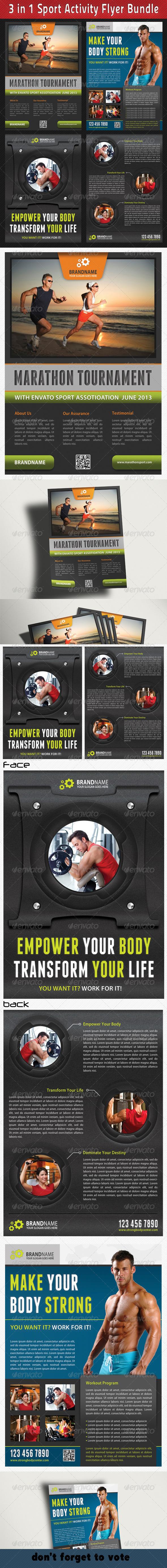 GraphicRiver 3 in 1 Sport Activity Flyer Bundle 01 6713887