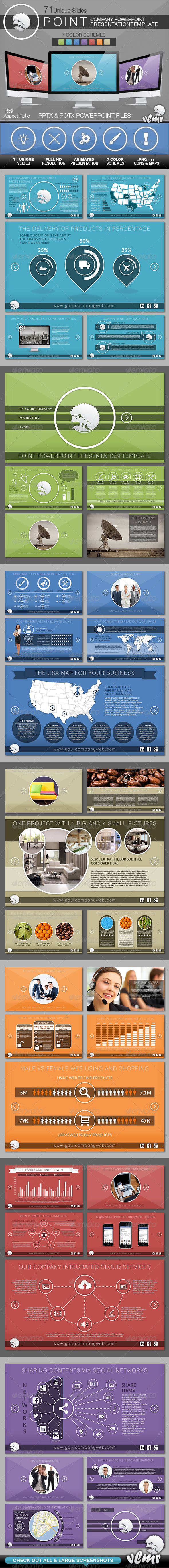 GraphicRiver Point Company PowerPoint Presentation Template 6713928