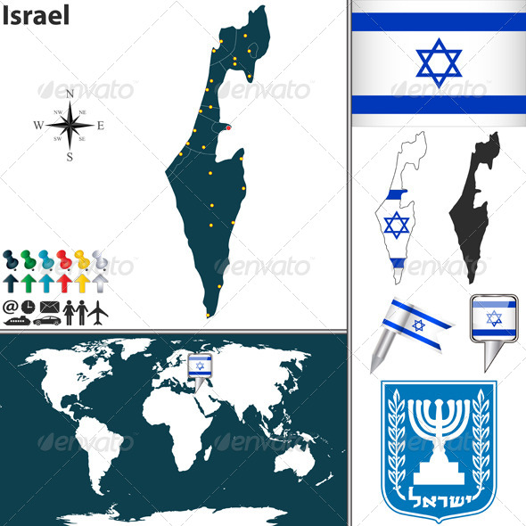 GraphicRiver Map of Israel 6714093