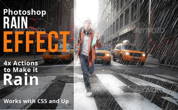 GraphicRiver Rain Effect Photoshop Actions 6714180