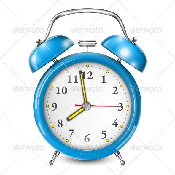 GraphicRiver Blue Alarm Clock 6714182