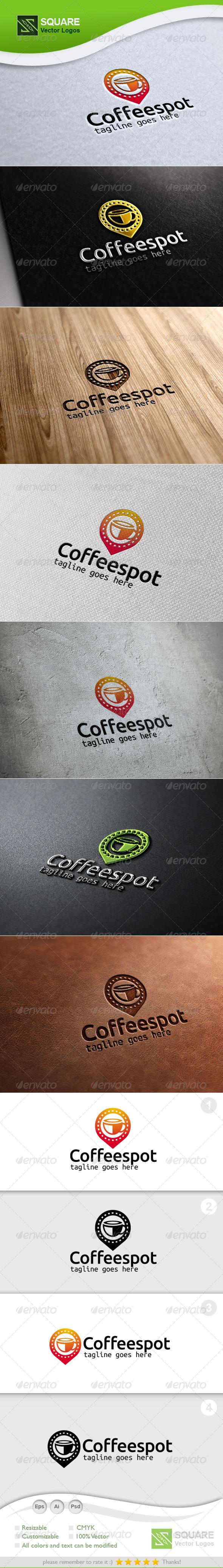 Tea, Locator Vector Logo Template - Symbols Logo Templates