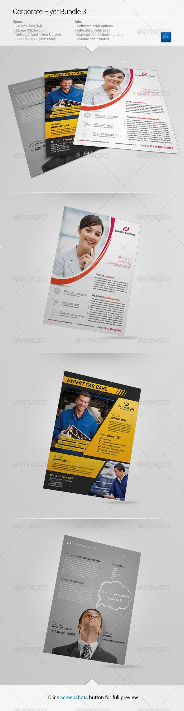 GraphicRiver Corporate Flyer Bundle 3 6714209