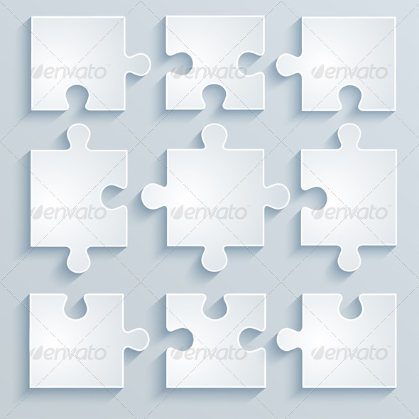 GraphicRiver Parts of Paper Puzzles 6714383