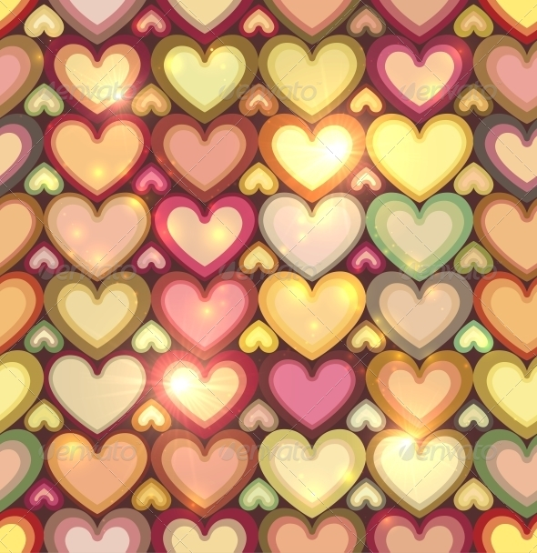GraphicRiver Vintage Colors Hearts Seamless Pattern 6714479