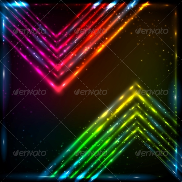 GraphicRiver Shining Neon Arrows Abstract Background 6714533