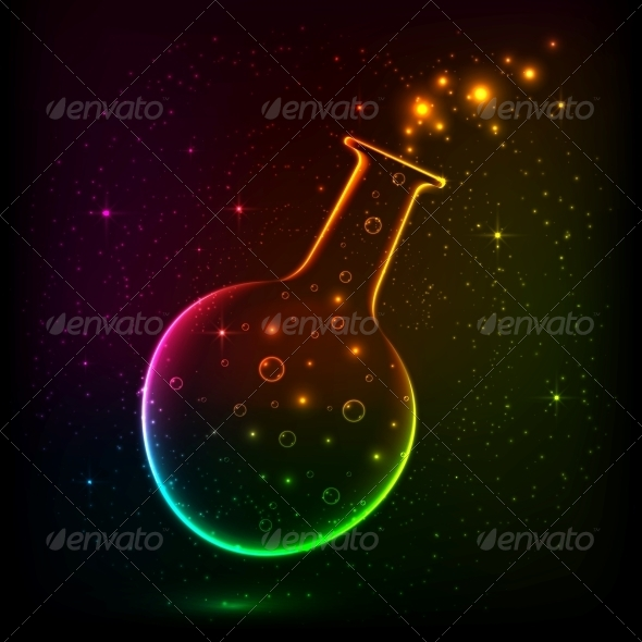 GraphicRiver Shining Rainbow Bottle with Magic Lights 6714546