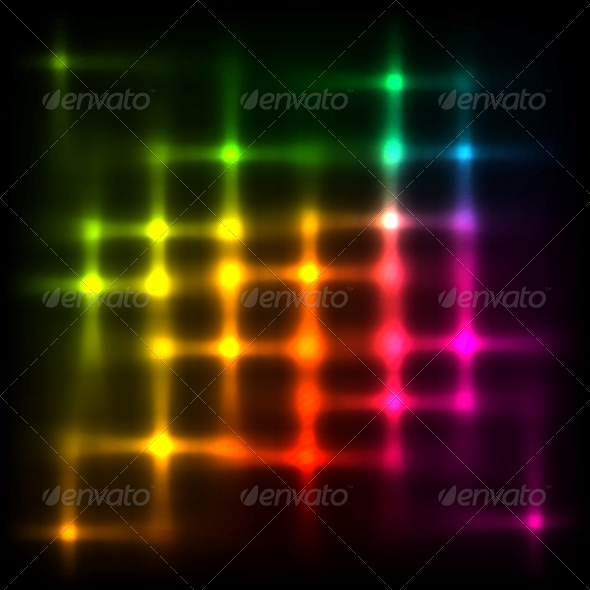 GraphicRiver Rainbow Disco Lights Abstract Background 6714554