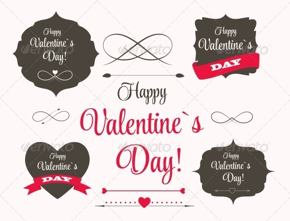 GraphicRiver St Valentine Day s Labels and Elements 6714854