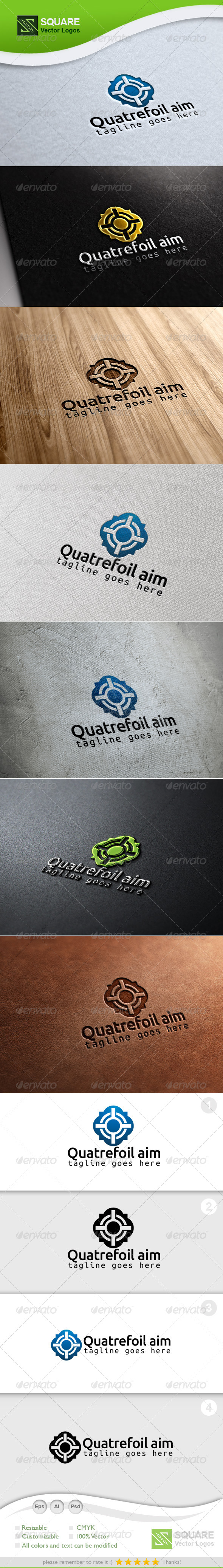 GraphicRiver Quatrefoil Target Vector Logo Template 6714903