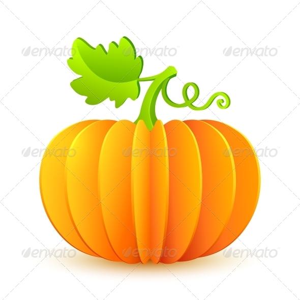 GraphicRiver Bright Halloween Paper Pumpkin 6715170