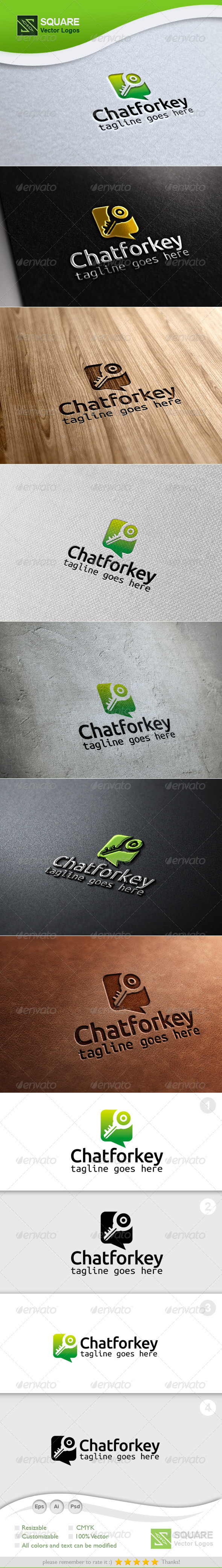 GraphicRiver Chat Key Vector Logo Template 6715317