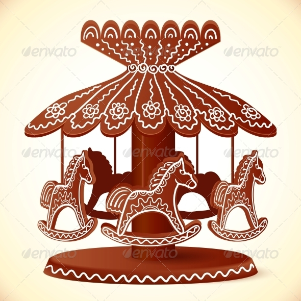 GraphicRiver Christmas Sweets Toy Horses Chocolate Carousel 6715325