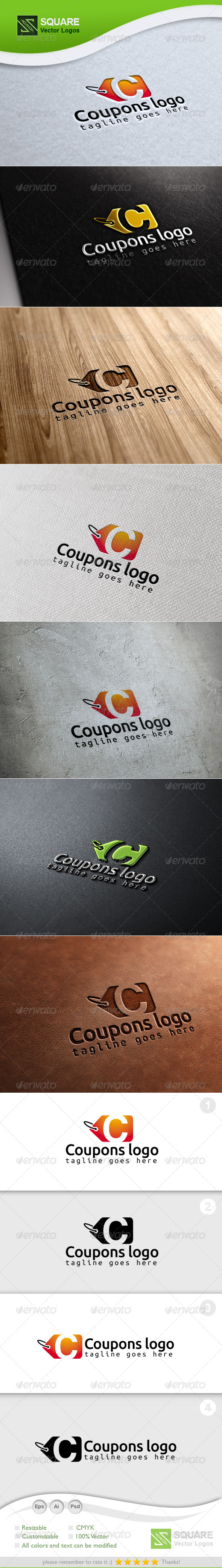 GraphicRiver C Coupon Vector Logo Template 6715342