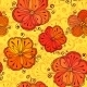 Orange Doodle Flowers Seamless Pattern - GraphicRiver Item for Sale