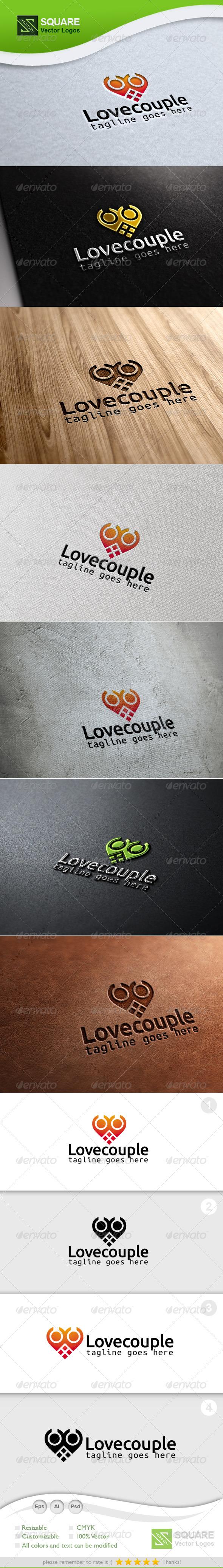 Love, Couple Vector Logo Template - Humans Logo Templates