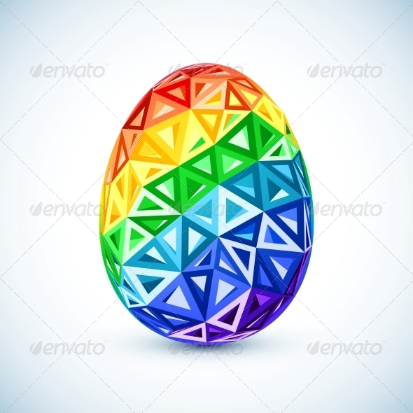 GraphicRiver Abstract Geometry Triangles Rainbow Easter Egg 6715412