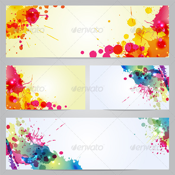GraphicRiver Set of Banners and Business Cards with Blots 6715446