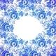 Ornate Blue Floral Frame - GraphicRiver Item for Sale
