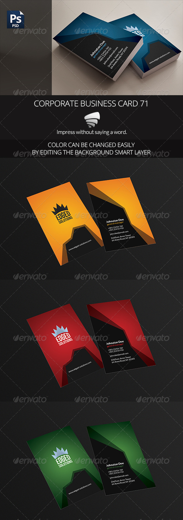 GraphicRiver Corporate Business Card 71 6715503