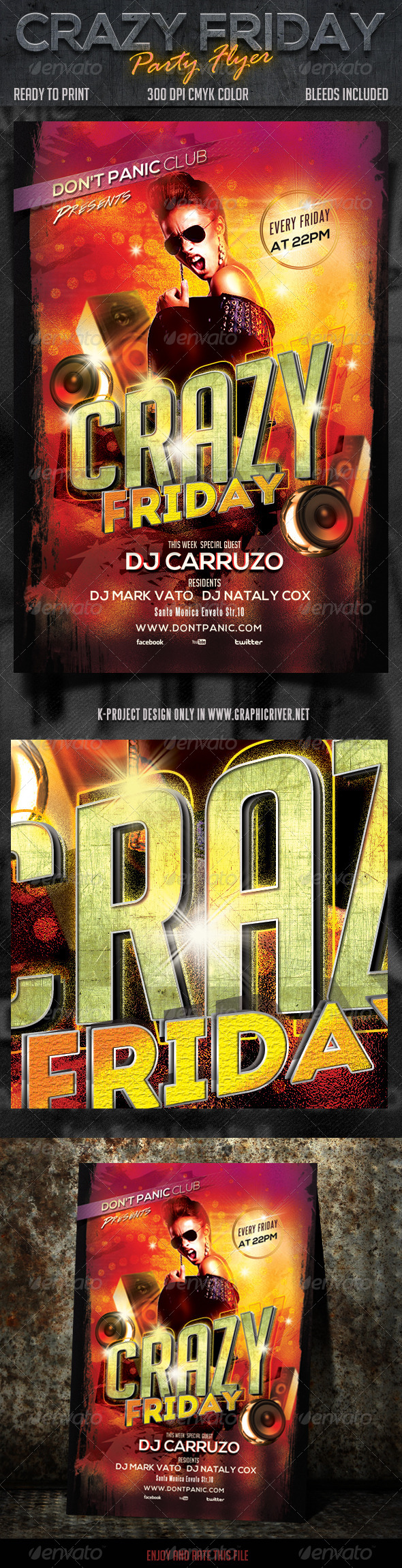 GraphicRiver Crazy Friday Party Flyer 6715517