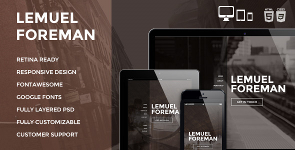 ThemeForest LF One Page Multi Purpose Parallax HTML Theme 6715613