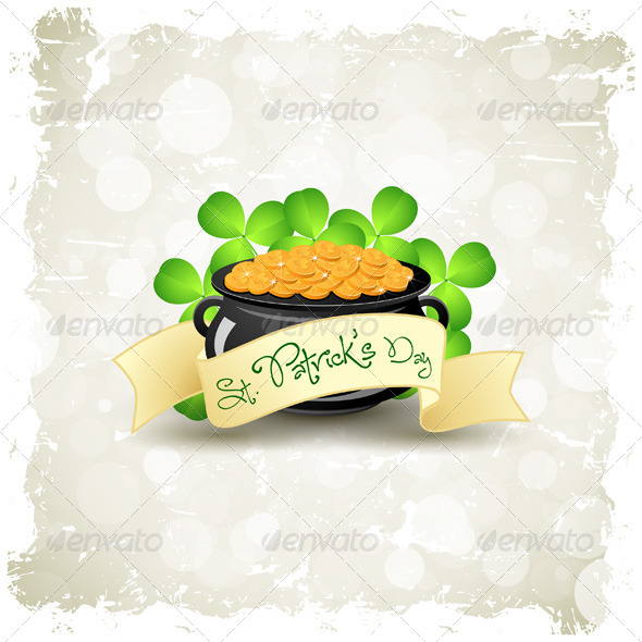 GraphicRiver Grungy Patrick s Day Card 6715691