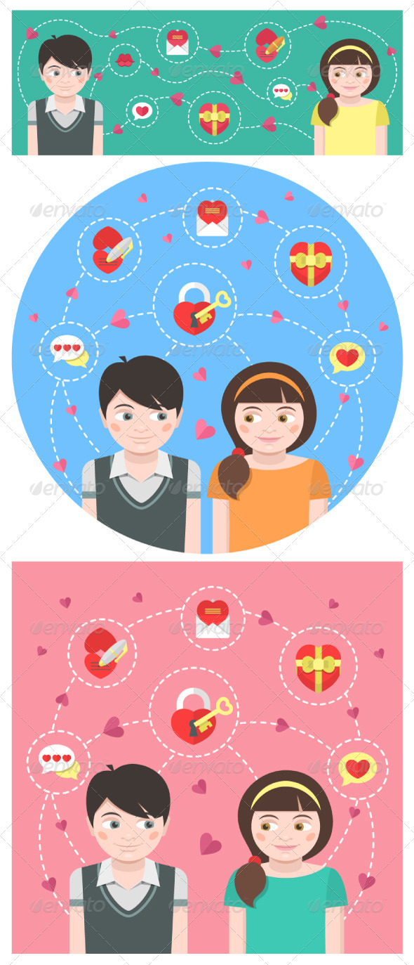 GraphicRiver Dating Conceptual Illustrations 6714647